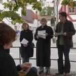 Wortlaut : Wortsplitter auf dem Gallusplatz