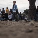 Sonntag: Katerstimmung auf dem Matsch-Gelände